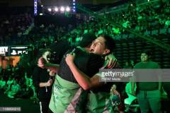 LOS ANGELES, CA - AUGUST 17: Fans hugging at Call of Duty World League Championship at Pauley Pavilion on August 17, 2019 in Los Angeles, California. (Photo by Kevin Haube/ESPAT Media/Getty Images)